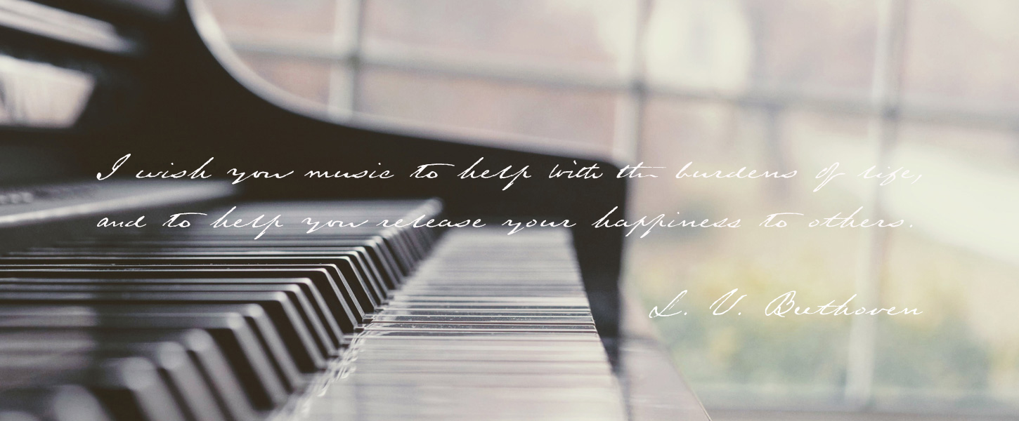 I wish you music to help with the burdens of life, and to help you release your happiness to others.